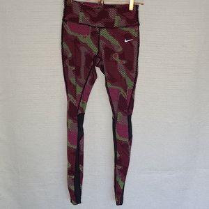 Nike DRI-FIT Leggings Skinny Camouflage Purple S